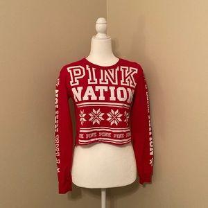 Victoria's Secret Pink Holiday Crop